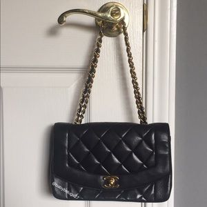 CHANEL Vintage Quilted Mini Purse